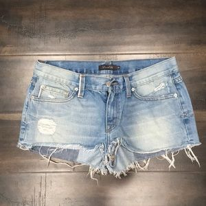 Low Rise, Ripped Jean Shorts